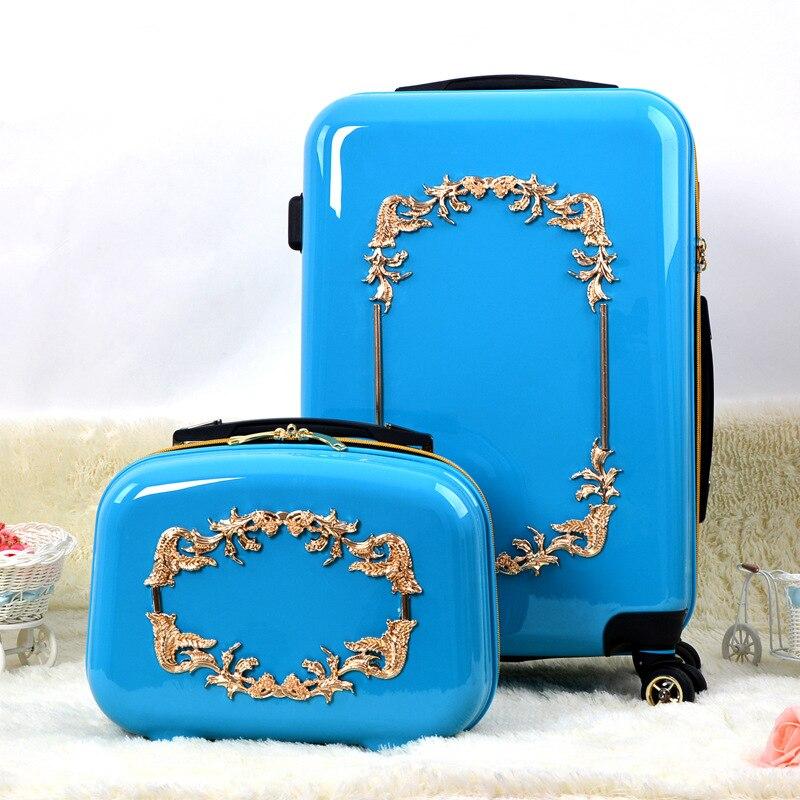 Mode tendance bagages femmes roues universelles chariot bagages sac de voyage hardside bagagesMode tendance bagages femmes roues universelles chariot bagages sac de voyage hardside bagages