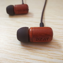 DZAT DF-10 Pure Wood In-Ear Earphone Bass HIFI Fever Headset Earbuds Auriculares with Mic and Remote for iOS and Android Phone