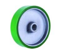 Best Price 1003 4 2 Hand Hydraulic Carrier Polyurethane Wheel With Aluminum Center