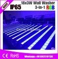 4 шт./лот 18X3W RGB Led Pixel настенный светильник 3 в 1 водонепроницаемый архитектурный светодиодный светильник наружный DMX IP65 Светодиодный прожекто...