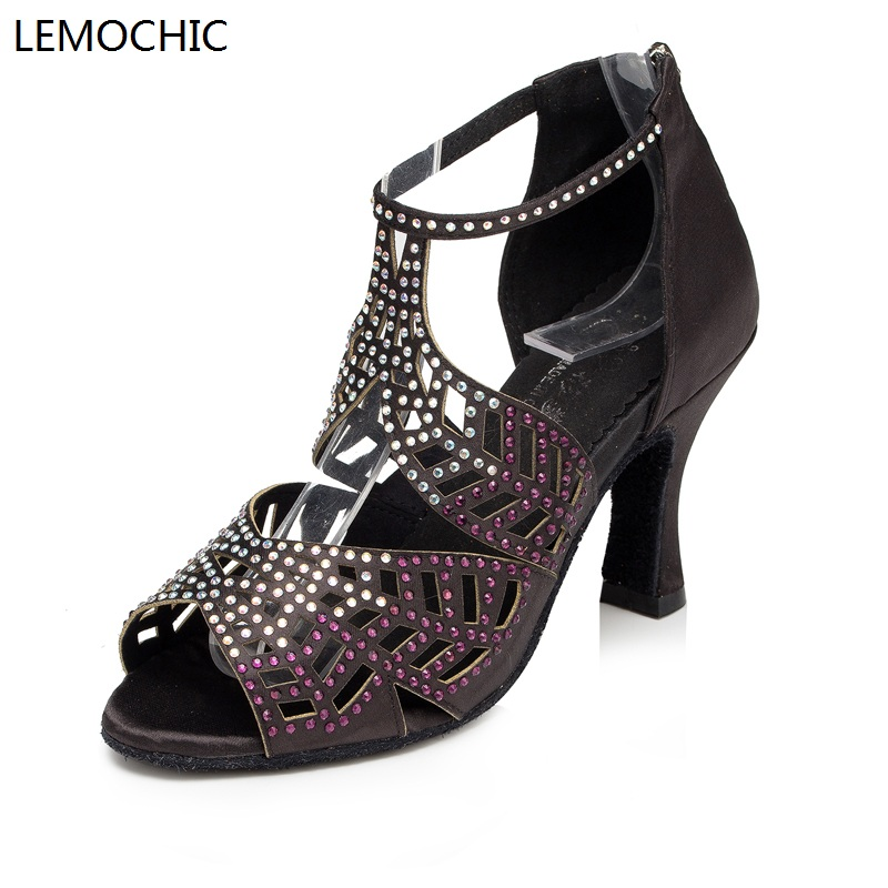LEMOCHIC ladies best seller genuine leather rumba samba latin tango  jazz cha cha pole salsa ballroom pointe dancing shoes lemochic hot sale women salsa cha cha double steps latin tango pole dancing performance arena classical professional dance shoes