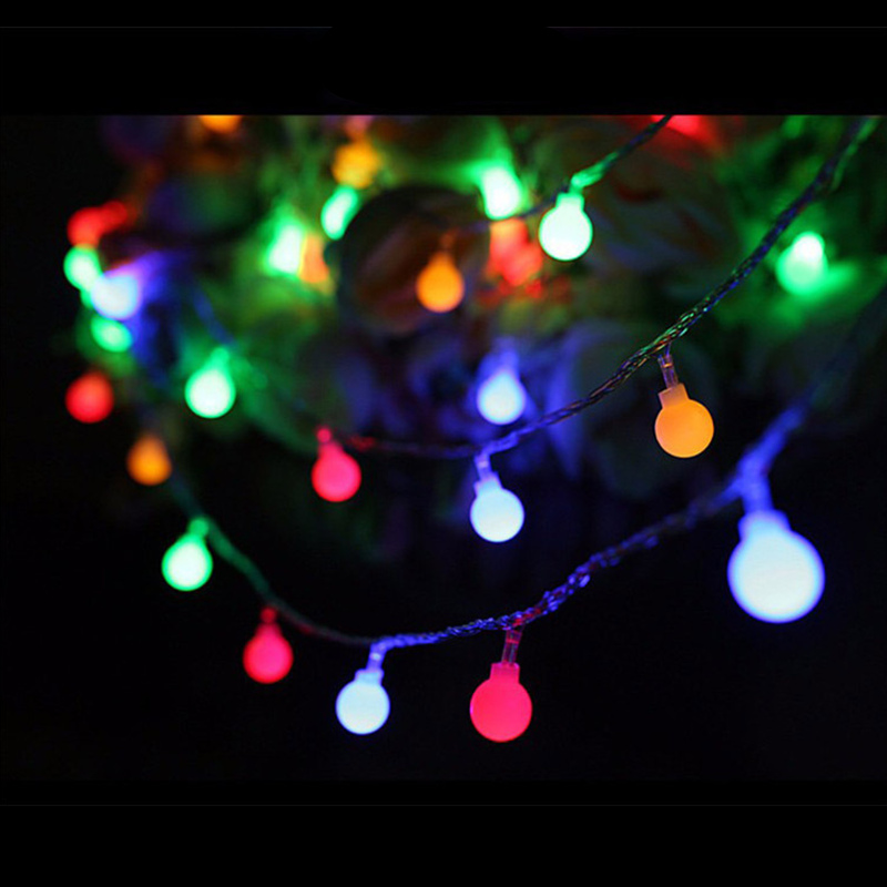 AUCD Waterproof 10M 100 Leds Ball LED String Light for Holiday Christmas Festival Party WeddingTrees Home Decoration LED-SL01