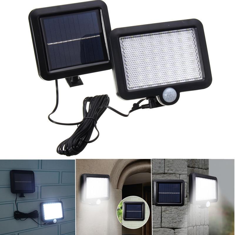 56 LED Solar Light PIR Motion Sensor Wall Lamp Energy-saving Lights Waterproof Outdoor Garden Floodlights