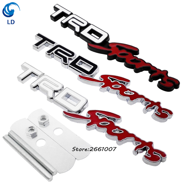 grill grille sticker metal hood front emblem decal trd sport logo rh aliexpress com TRD Sport Logo Sticker Toyota Logo TRD Sport