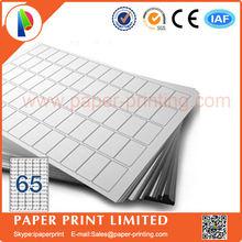 80 листов совместимый L7651/J8651 пустая матовая белая этикетка/печатная бумага для струйного принтера А4 Этикетка Размер: 38,1x21,2 мм