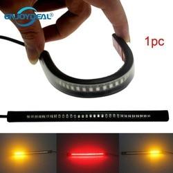 Universal 48 LED Flexible Motorcycle Plate Brake Tail Lamp Signal Turn Light 12V LED Strip Light Waterproof brake light strip