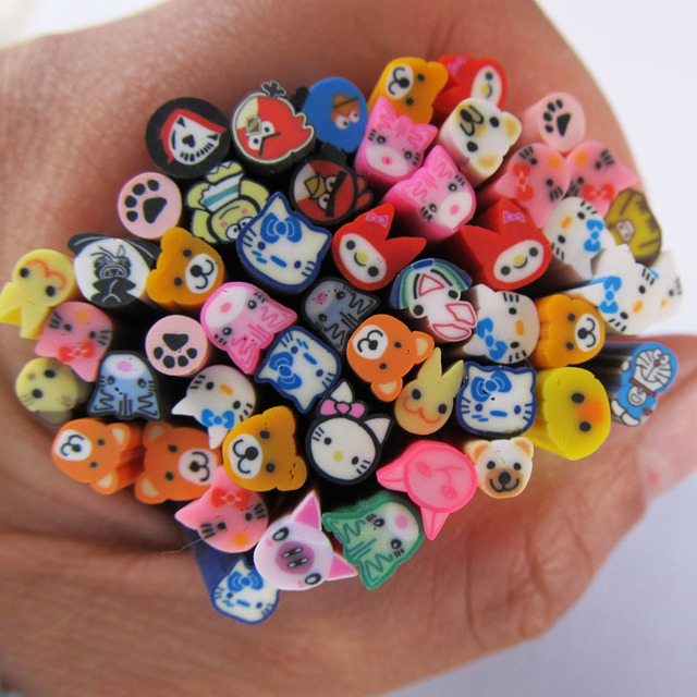 Colorful Fimo Nails Art Animal Canes New Arrival Cute Fashion Nail