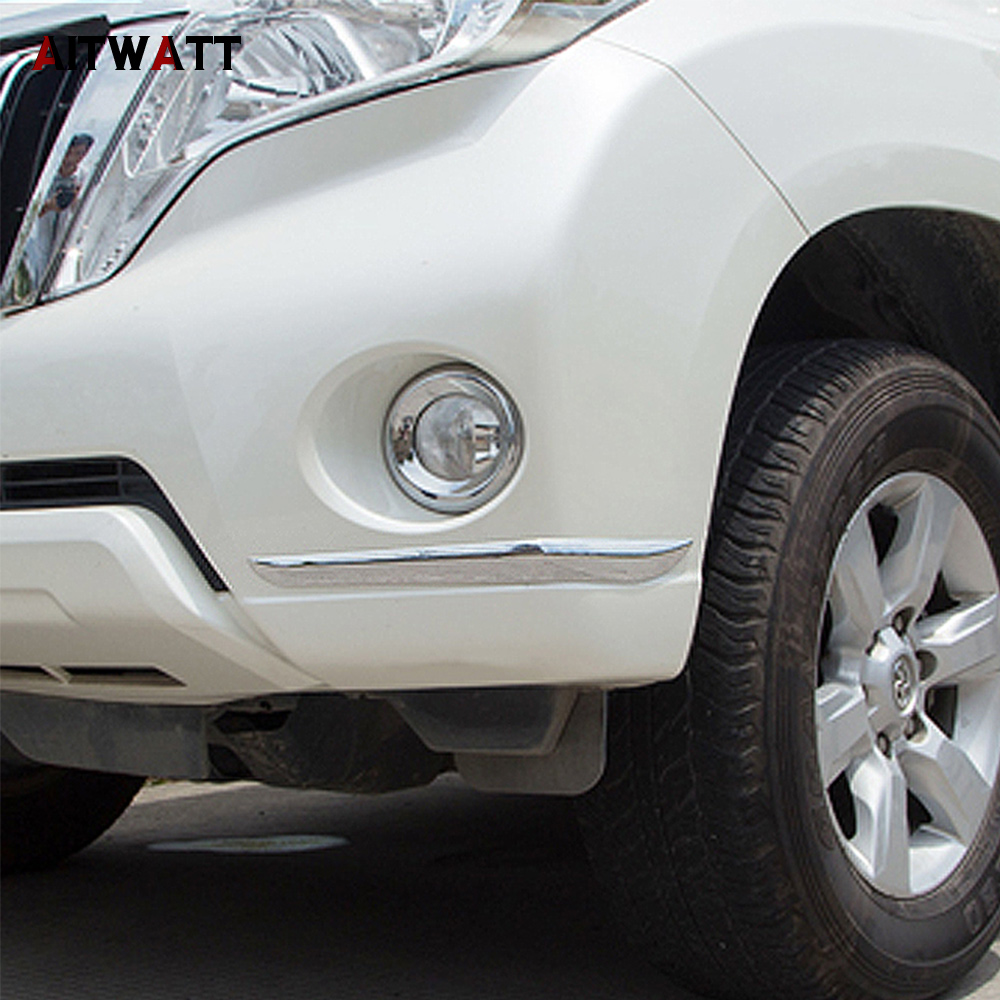 AITWATT ABS Chrome avant arrière Foglight paupière coin sourcil bande corps moulage pour Toyota Cruiser Prado FJ150 FJ 150 2014-2016