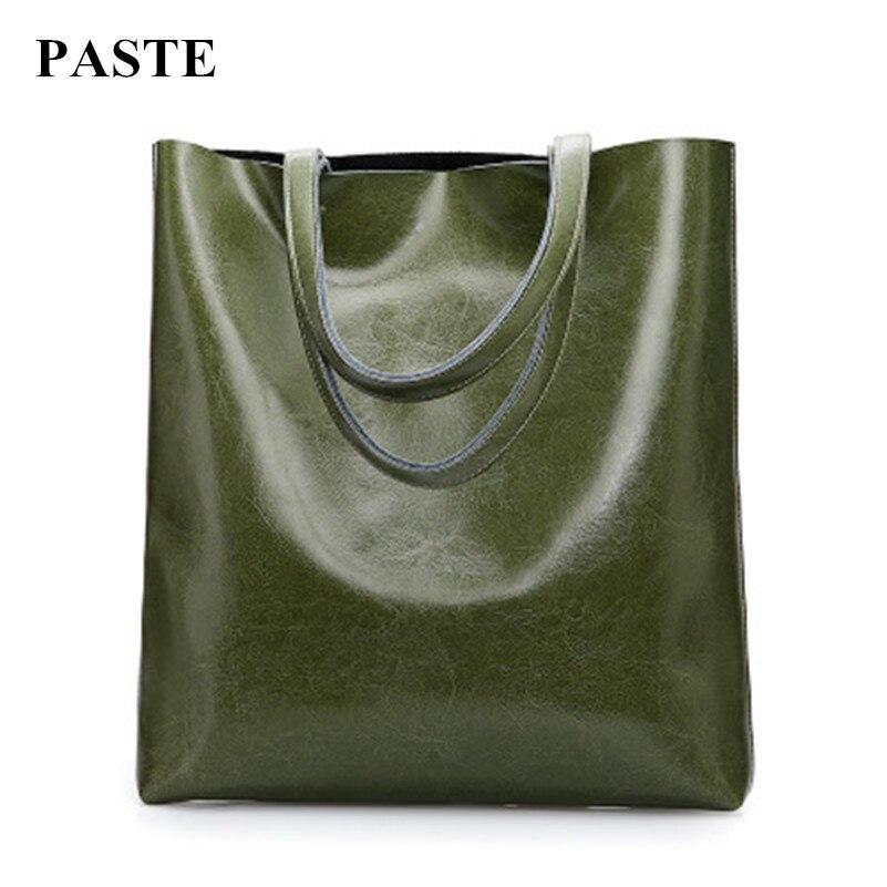 Горячая Продажа!!! 2017 Новый ретро масло воск кожа женщины сумки Европейский простой стиль одно плечо сумки большой емкости