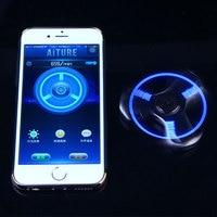 Bluetooth Hand Spinner LED Light Display Speed Sensory Fidget Spinner Removable R188 Bearing Tri Spinner For