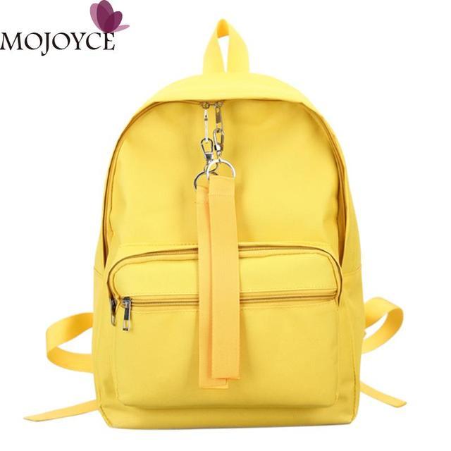 410ff98450 Nylon Backpacks Women Leisure Schoolbag Girls Travel Soft Shoulder Bag  Students Bookbag Fashion Women Rucksack Pink Daypack New