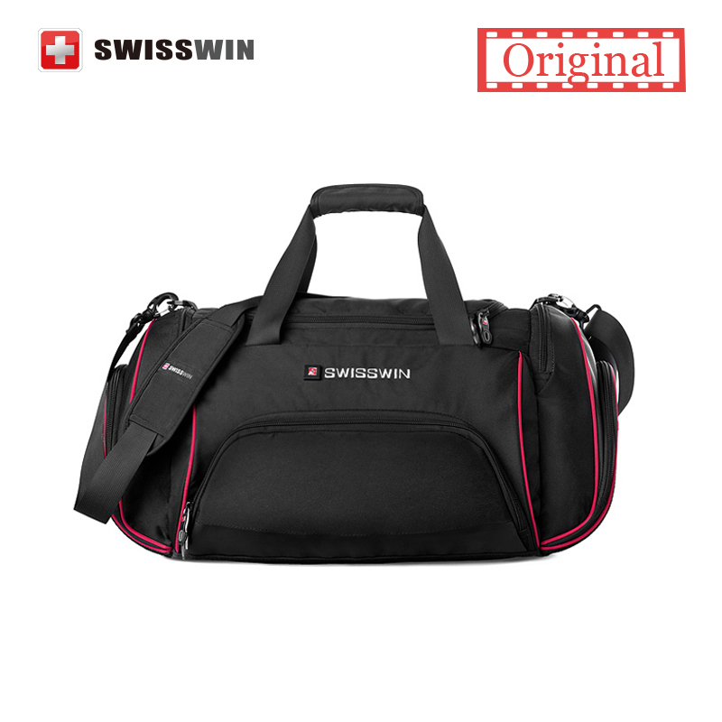 Swisswin Travel Bag Male Large Capacity Lightweight Travel Messenger Shoulder Bag Women Big Portable Duffel Bag
