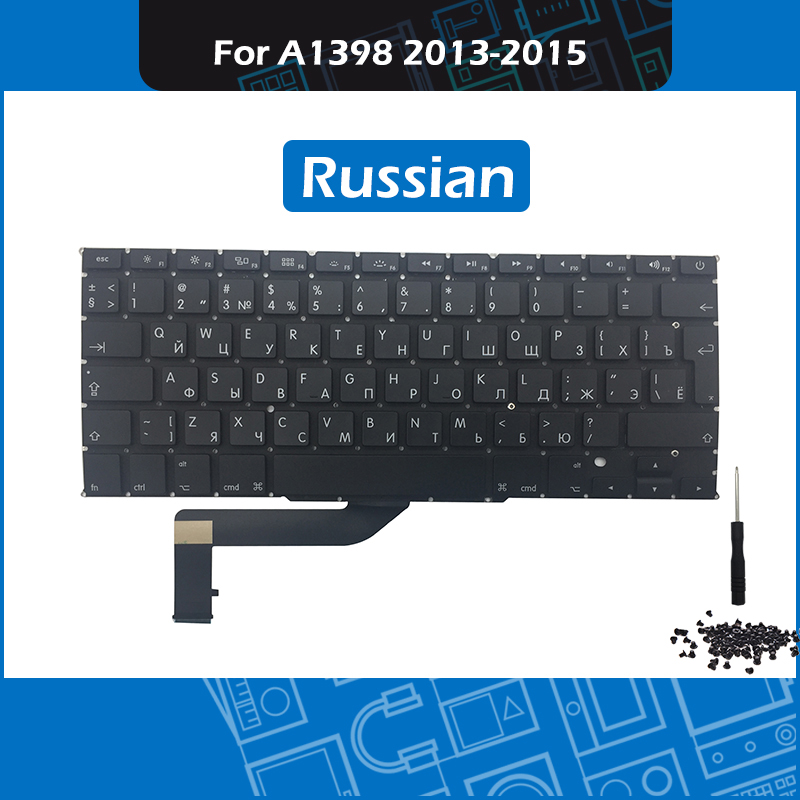 Laptop A1398 keyboard Russian Layout For Macbook Pro Retina 15 A1398 Replacement keyboard 2013 2014 2015 Year image