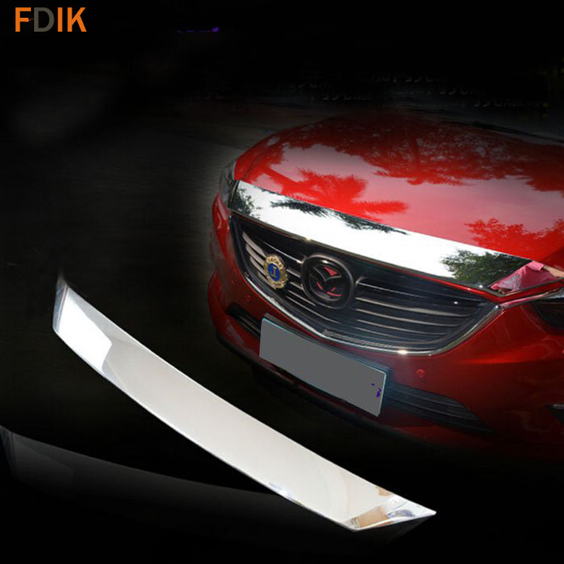 Sport Chrome Mirror Front Grille Grill Hood Cover Bonnet Trim for Mazda 6 Atenza M6 2014 2015 2016 1pc chrome abs head front center grill grille bumper trim cover for mazda 6 m6 atenza 2014 2015