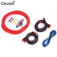 Car Amplifier Installation Kits Car Audio 12GA Car Amplifier Cable Durable Subwoofer Amplifier Wire Automotive