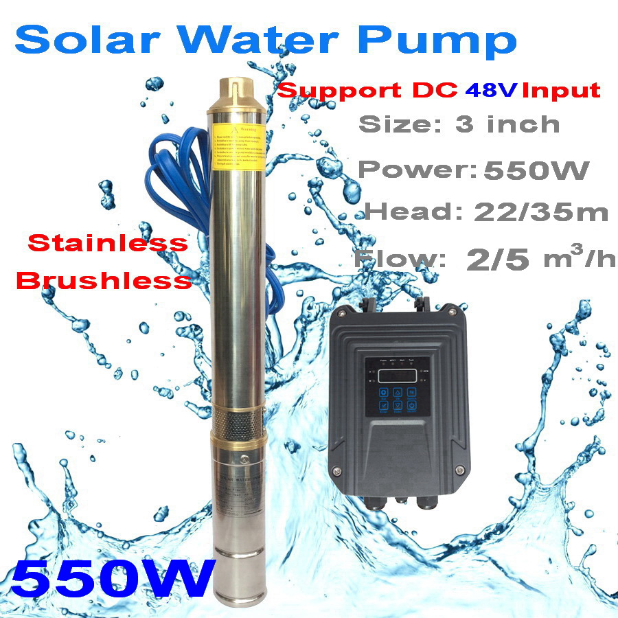 solar submersible pump for irrigation exported to 58 countries dc solar powered water pumps 48V 550W