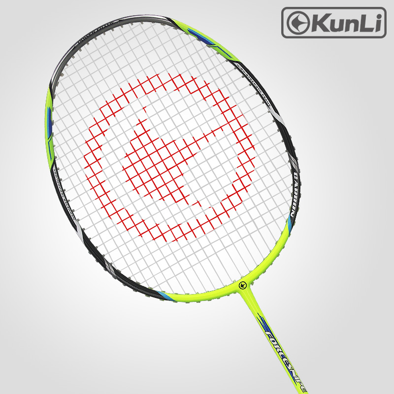 Original KUNLI Official Badminton Racket 5U 79g FORCE79 Blue Green Carbon Ultra Light Attack Racket Professional Feather Racket