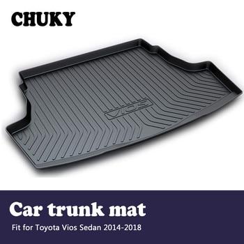 CHUKY For Toyota Vios Sedan XP150 2014 2015 2016 2017 2018 Car Cargo rear trunk mat  Boot Liner Tray Anti-slip mat Accessories