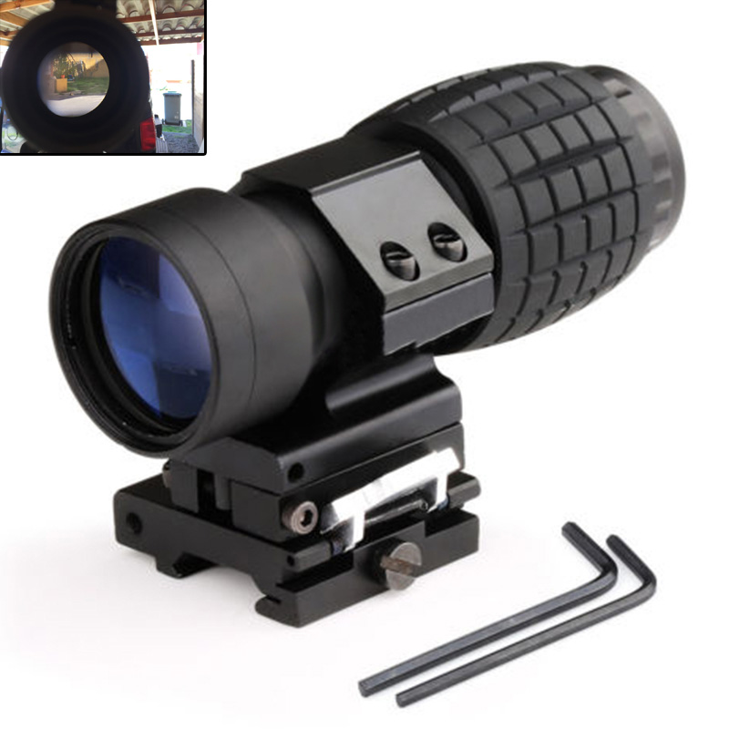 Tactical Aim Optic sight 3X Magnifier Scope Compact Hunting Riflescope Sights with Fit for 20mm Rifle Gun Rail Mount st 5339 tactical gun holographic rifle scope ap style 3x magnifier with qd twist ris weaver mount for hunting