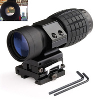 Tactical Aim Optic sight 3X Magnifier Scope Compact Hunting Riflescope Sights with Fit for 20mm Rifle Gun Rail Mount
