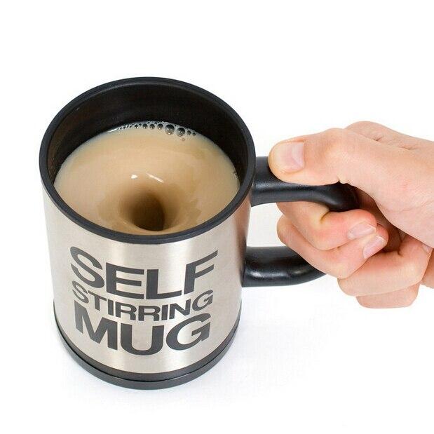 VILEAD 350ml Automatic mixing cup drinkware stainless steel tea cup self stirring mug electic cooking tool water bottle