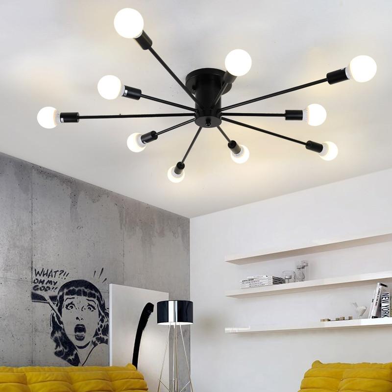 Здесь продается  Nordic Ceiling Lamps Black LED Ceiling Lights For Kitchen Living Dinning Room Home lighting abajur 10 Light Fixtures lustre      Свет и освещение