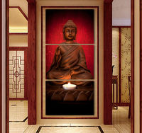 Framed art Modern Buddha Painting 3 Picture Home Decoration canvas art cheap modern canvas art canvas canvas oil paintings GAZ6