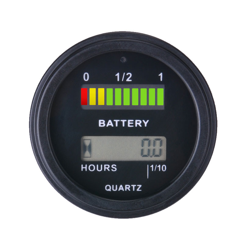 ФОТО Battery Gauge battery AGM GEL VOLT meter battery indicator with hour meter FOR Motorcycle ATV Tractor cleaning machine
