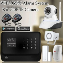 Android IOS APP G90B Wifi GSM GPRS Home Alarm System with font b Camera b font
