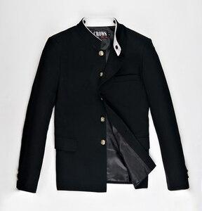 Image 3 - Free Shipping New Japanese senior middle school uniform male mens Suzura slim blazer chinese tunic jacket top Korean coat