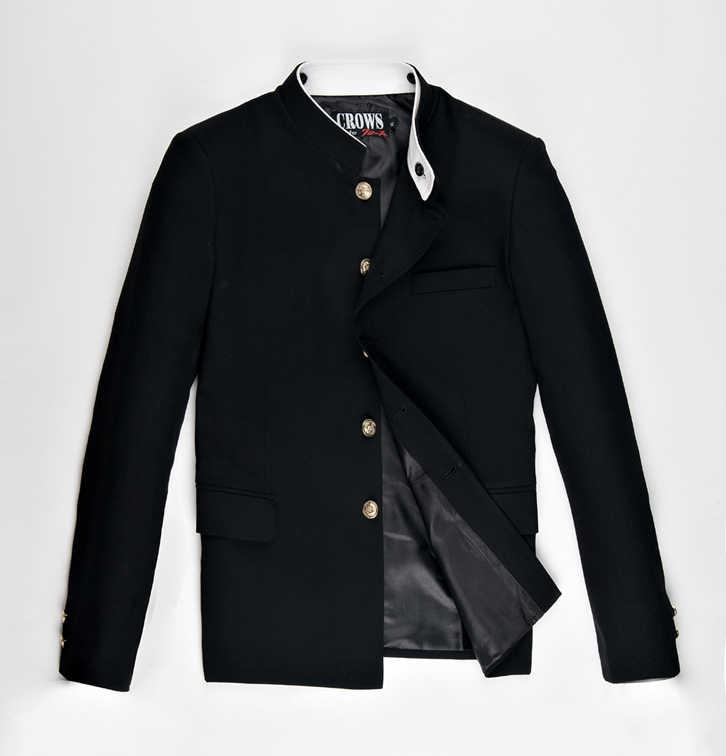 Freies Verschiffen Neue Japanische schuluniform männlichen männer boy slim blazer chinesische tunika jacke top Koreanische mantel Auf Verkauf