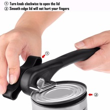 Professional Manual Side Cut Jar Tin Opener Stainless Steel Can Opener Smooth Edge Bottle Opener Easy Turn Knob Kitchen Gadgets yooap cans opener household kitchen tools professional manual stainless steel openers with turn knob