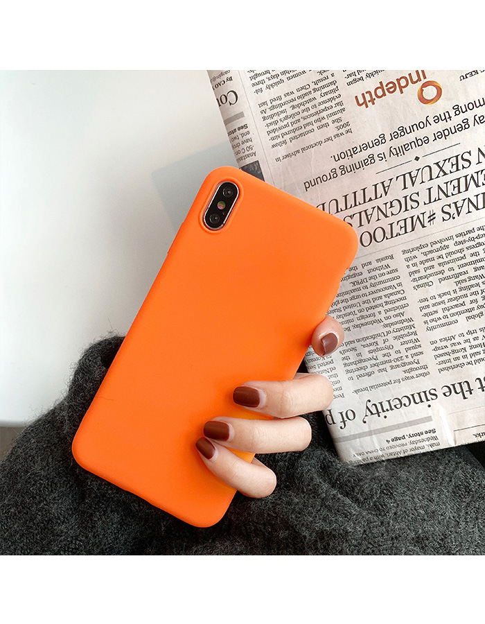 Generic for 6Plus 6sPlus case New Fashion Orange Matte Phone