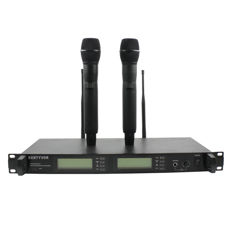 UR24D professional UHF PLL true diversity wireless microphone dual wireless microphone