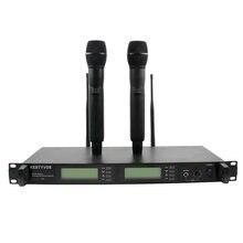 UR24D профессионал UHF PLL истинный микрофон разнообразные беспроводные, двойной беспроводной микрофон