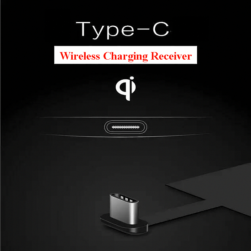 Universal Type-C Qi Wireless Charger Charger Receiver για Huawei P20 Pro P10 P9 Plus Nexus 5X 6P Xiaomi Mi8 SE 6 Oneplus 3T 5 6