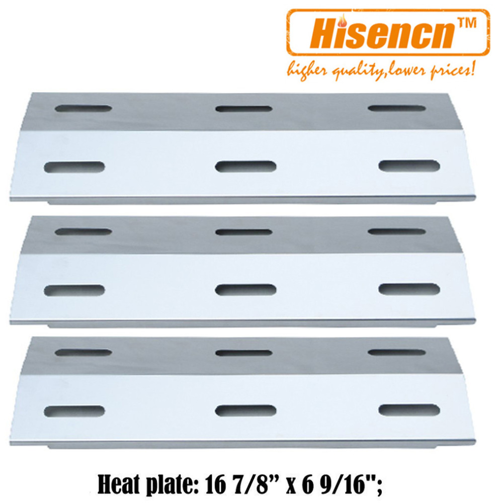 Hisencn 16 9 inch 99341 3pcs Gas Grill Heat Tent Parts Porcelain Heat Plate Replacement For