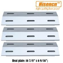 Hisencn 99341 3pcs/pk Gas Grill Heat Tent Parts Porcelain Steel Heat Plate Replacement For Ducane 30400040, 30400042,30400043