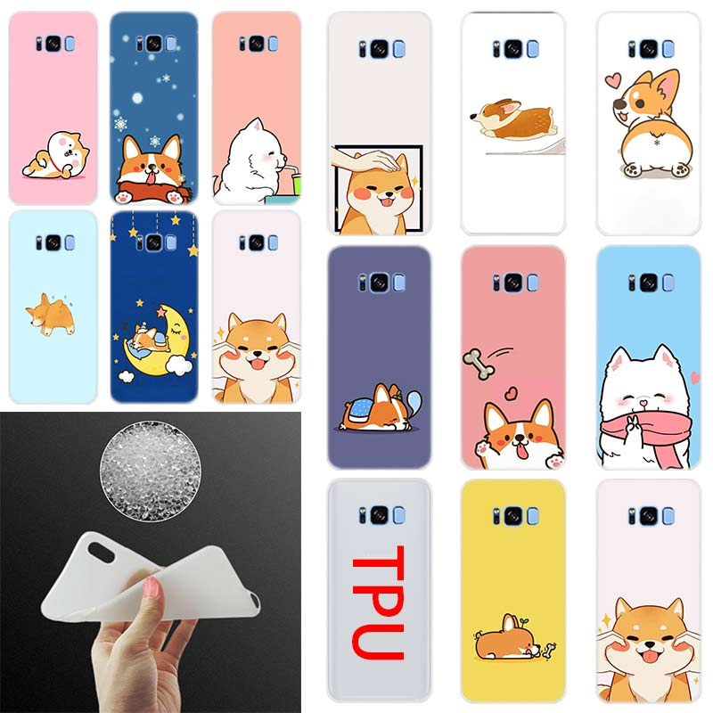 Case-Cover Shiba S6edge Phone-S10-E S9 Plus Note-10 Samsung Galaxy Silicone Dog Cute
