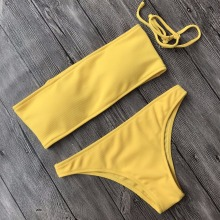 Push Up Bandeau Bathing Suit