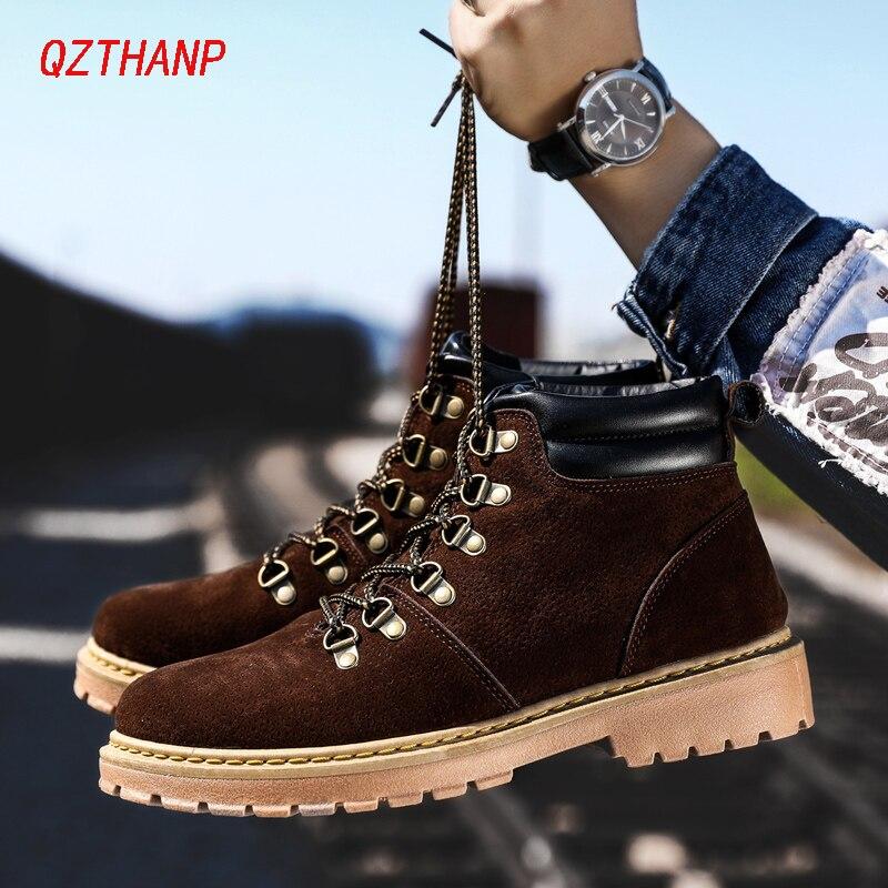 45992cc9 Cheap Nuevas botas De invierno para Hombre Martin Zapatos casuales Hombre  Suede cuero Tenis zapatillas De