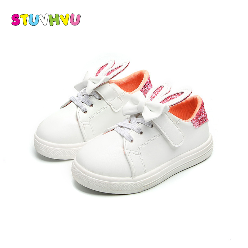 Baby Children Shoes Sneakers Kids School Running Shoes Spring Autumn New Boys Sports Shoe Lightweight Rabbit Ear Bow Girls Shoes