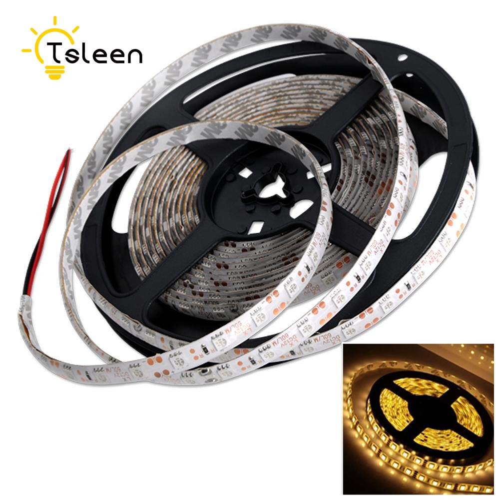 TSLEEN SMD5050 Brighter Than 3528SMD Waterproof RGB Flexible LED Strip light 60 LEDs / 1M String lighting Decoration lamp Tape