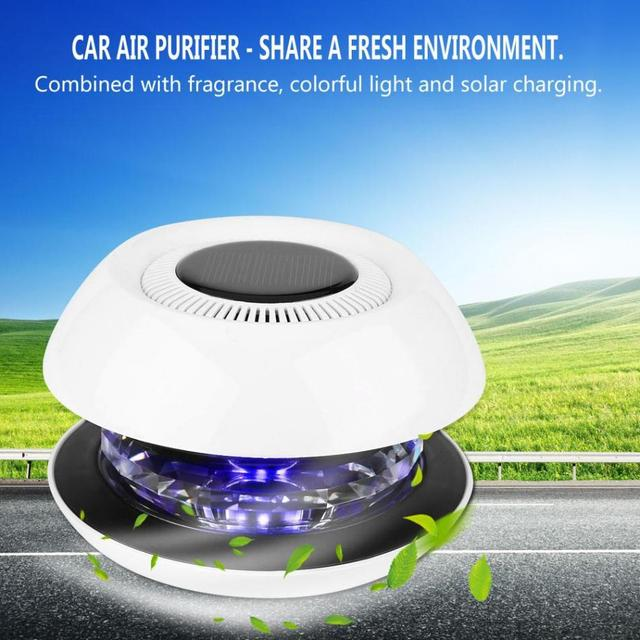 Car Solar Air Purifier Cleaner Negative Ions Cleaner Ionizer Air