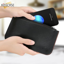 KISSCASE Wallet Phone Bag For iPhone 7 6 6s Plus Luxury PU Leather Case Samsung Galaxy S6 S7 Edge Huawei P10 Xiaomi