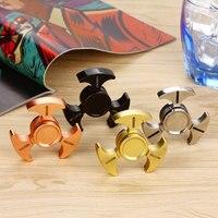 Hand Fidget Spinner Luminous Triangle Fidget Focus Spinner Desk Toys With Ceramic Center Bearing Stain Steel