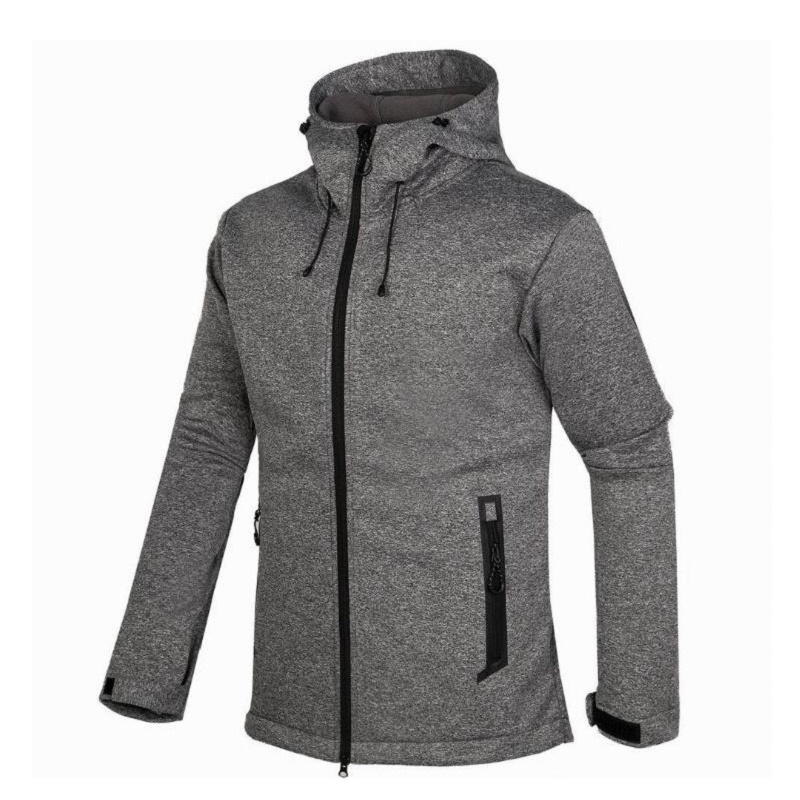 цена на 2018 New Waterproof Hooded Softshell Jacket Men Outdoor Hiking Clothing Thermal Tech Fleece Ski Fishing Climbing Clothes