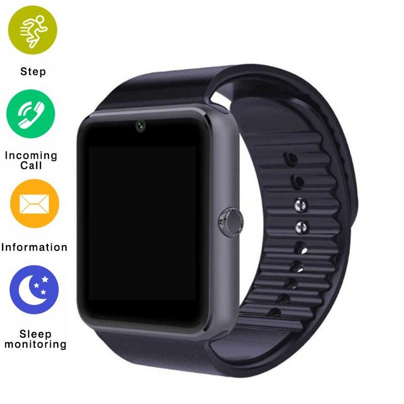 Nouveau GT08 Montre Smart Watch Horloge Sync Notifiant Podomètre Push Message Support Carte Sim Bluetooth Connectivité Android Téléphone SmartWatch