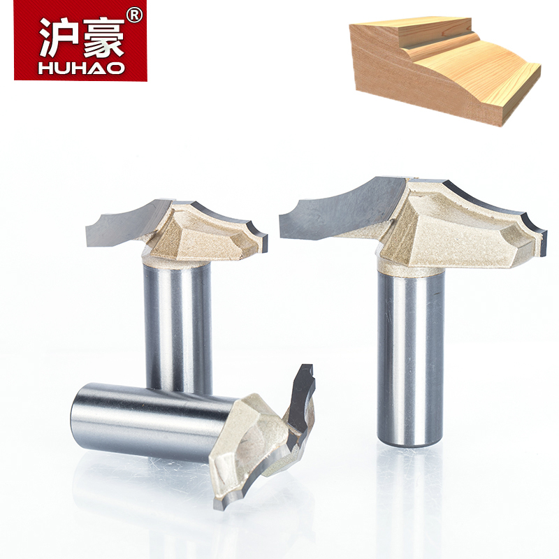 HUHAO 1pc 1/2 1/4 Shank Trimmer Router Bits For Wood Tungsten Carbide Woodworking Engraving Endmill Tools For Hard Wood MDFHUHAO 1pc 1/2 1/4 Shank Trimmer Router Bits For Wood Tungsten Carbide Woodworking Engraving Endmill Tools For Hard Wood MDF