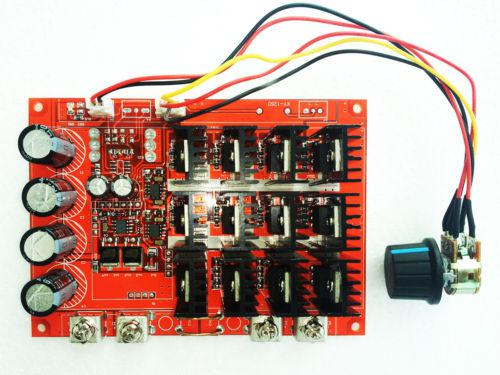 Adeing 10-50 v 60a controlador de controle de velocidade do motor da c.c. pwm hho rc 12 v 24 v 48 v 3000 w max